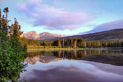 Landscapes Royalty-Free and Rights-Managed Images - Sprague Lake Mountain Landscape Morning Reflections - Rocky Mountain National Park by Gregory Ballos