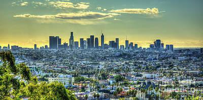 Photograph - Sprawling 2 Los Angeles California Panorama Art by Reid Callaway