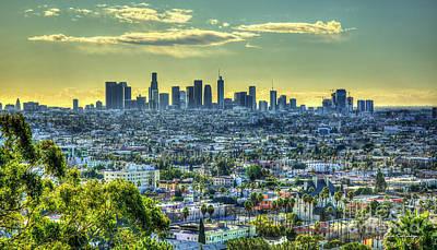 Photograph - Sprawling Los Angeles California Panorama Art  by Reid Callaway