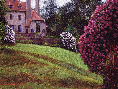 Painting - Spring At The Manor House by David Lloyd Glover