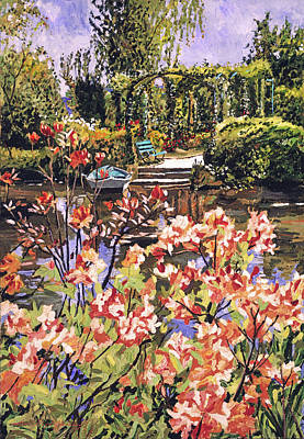 Painting - Spring Day In Giverny by David Lloyd Glover