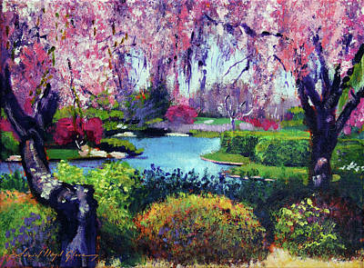 Painting - Spring Day In The Park - Plein Air by David Lloyd Glover