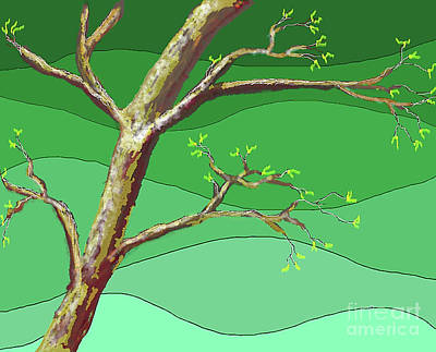Digital Art - Spring Errupts In Green by James Fannin