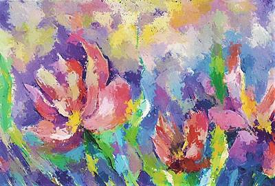 Mixed Media - Spring Floral by Betty Turner