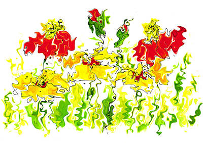 Mixed Media - Spring Flowers by Steven Clarke