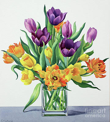 Painting - Spring Flowers Watercolor by Christopher Ryland