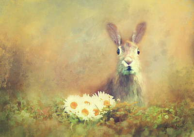 Wall Art - Mixed Media - Spring Hare by Amanda Lakey