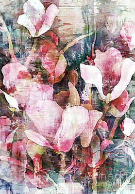 Mixed Media Royalty Free Images - Spring Magnolia Royalty-Free Image by Jacky Gerritsen