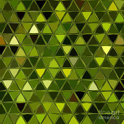 Digital Art - Spring Pine Triangles by Rachel Hannah