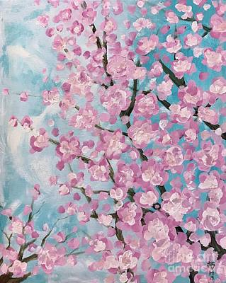 Painting - Spring Pink by Wonju Hulse