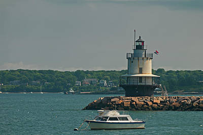 Photograph - Spring Point Ledge Light by Paul Mangold