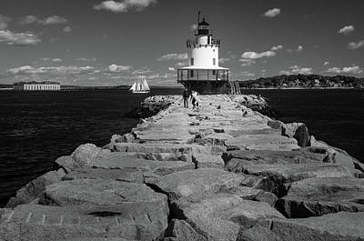 Photograph - Spring Point Ledge Light by Todd Henson