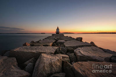 Photograph - Spring Point Ledge Lighthouse At Dawn by Michael Ver Sprill