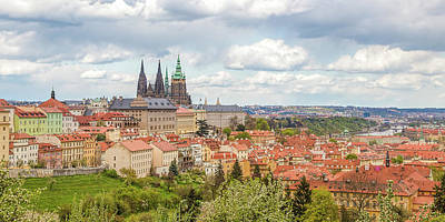 Fantasy Royalty-Free and Rights-Managed Images - Spring Prague panorama by Jan Fidler