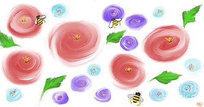 Digital Art - Spring  by Reina Resto