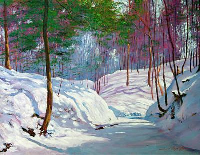 Painting - Spring Snowfall by David Lloyd Glover