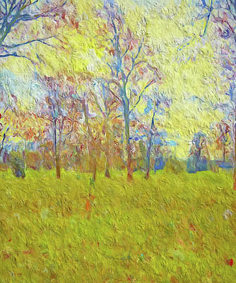 Painting - Spring Sunrise In The Park by Dan Sproul