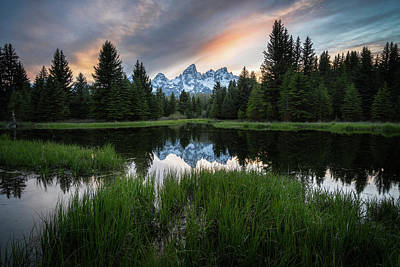 Reptiles Royalty-Free and Rights-Managed Images - Spring Sunset in Grand Teton National Park by James Udall