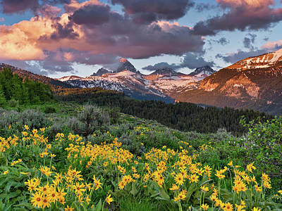 Photograph - Spring Sunset In The Tetons by Leland D Howard