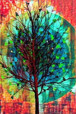 Digital Art - Spring Tree In African Art by Debra and Dave Vanderlaan