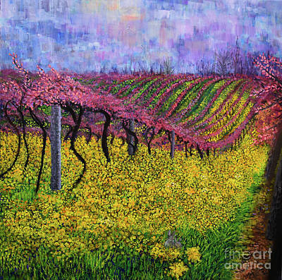 Painting - Spring Vineyard by Anne Cameron Cutri