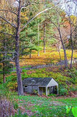 Photograph - Springhouse On Wises Mill Rd - Roxborough Philadelphia by Bill Cannon