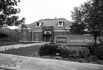 Photograph - Springs Lancaster Plant Office 2009 B W 1 by Joseph C Hinson Photography