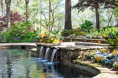 All American - Springtime by the Pool by Mary Ann Artz