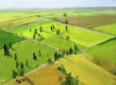 Painting - Springtime Horizon by Nancy Merkle