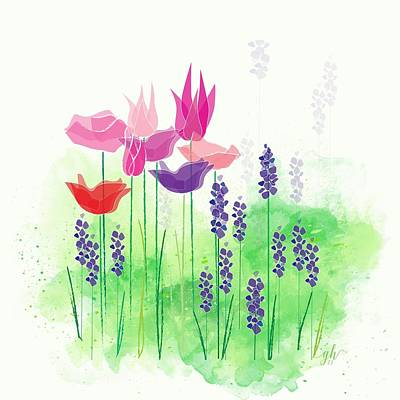 Digital Art - Springy by Gina Harrison