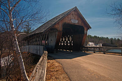 Photograph - Squam River Covered Bridge by Paul Mangold