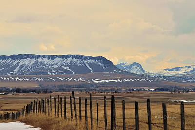 Photograph - Square Butte And Nearby Peaks by Kae Cheatham