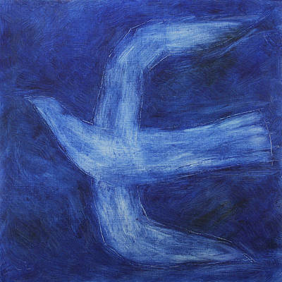 Photograph - Square Format Blue Bird Oil Painting by Rolbos