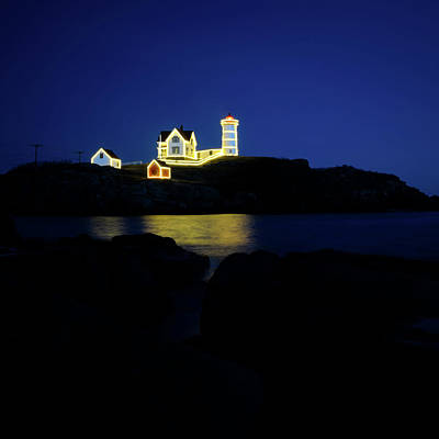 Photograph - Square Nubble Light- Night Light by Luke Moore