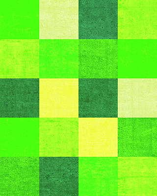 Royalty-Free and Rights-Managed Images - Squares Green - Vertical by Peter Tellone