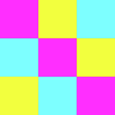 Photograph - Squares Of Cyan And Yellow And Magenta by Bill Swartwout Photography