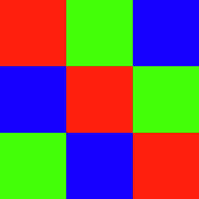 Digital Art - Squares Of Red And Blue And Green by Bill Swartwout Fine Art Photography