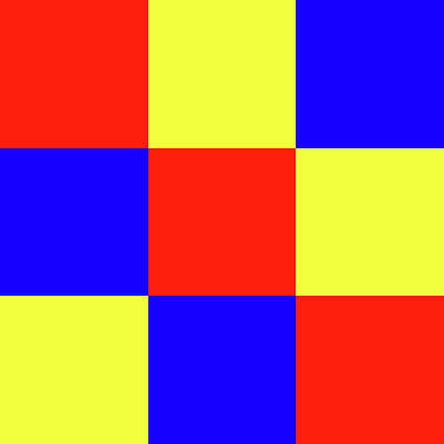 Digital Art - Squares Of Red And Yellow And Blue by Bill Swartwout Fine Art Photography