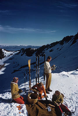 Ski Resort Photograph - Squaw Valley Picnic by Slim Aarons