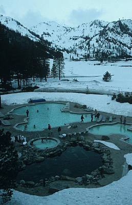 Ski Resort Photograph - Squaw Valley Pool by Slim Aarons