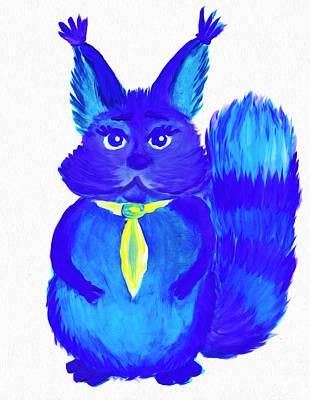 Painting - Squirrel Named Panka by Dobrotsvet Art