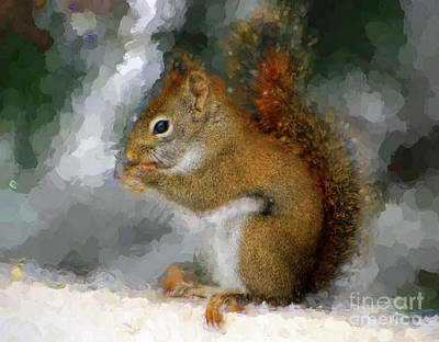 Photograph - Squirrel Sweetness - Squirrel Art by Kerri Farley