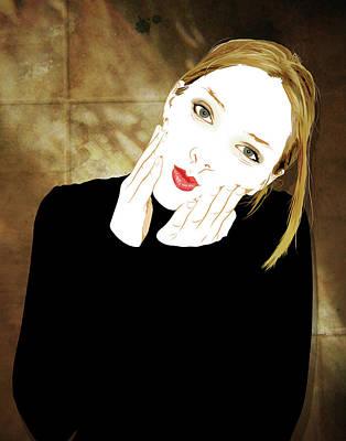 Digital Art - Squishyface by Jason Casteel