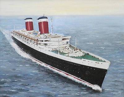Painting - SS United States by Brad Thomas