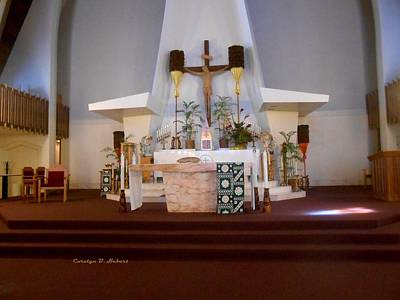 Wall Art - Photograph - St Augustine Altar Hawaii by Carolyn Hebert