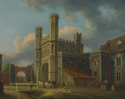 Painting - St. Augustine's Gate, Canterbury by Michael Angelo Rooker