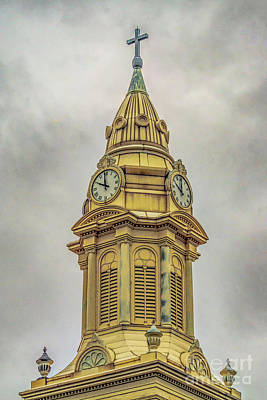 Photograph -  St. Augustine's Steeple by Nick Zelinsky