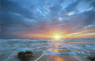 Digital Art - St. Augusting Sunrise II by Jon Glaser