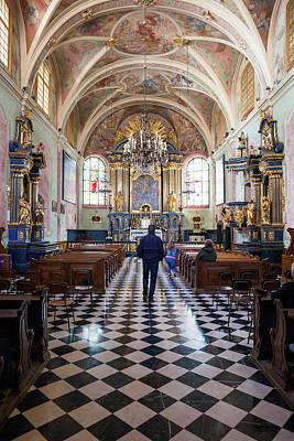 Saint Barbara Wall Art - Photograph - St. Barbara Church Interior In Krakow by Artur Bogacki