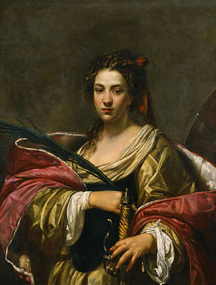 Painting - St. Catherine by Simon Vouet